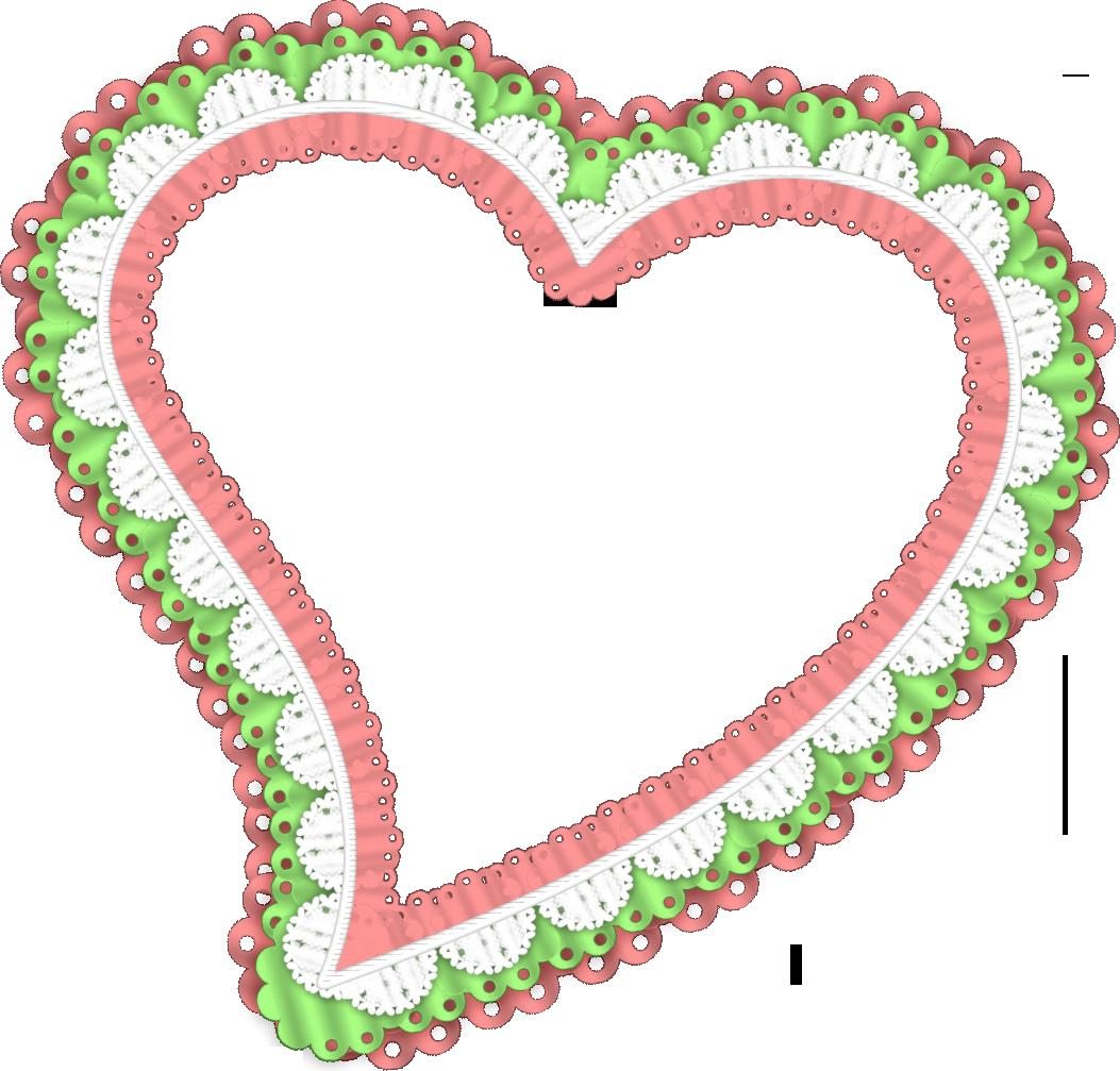 картинки рамочки из сердец можно