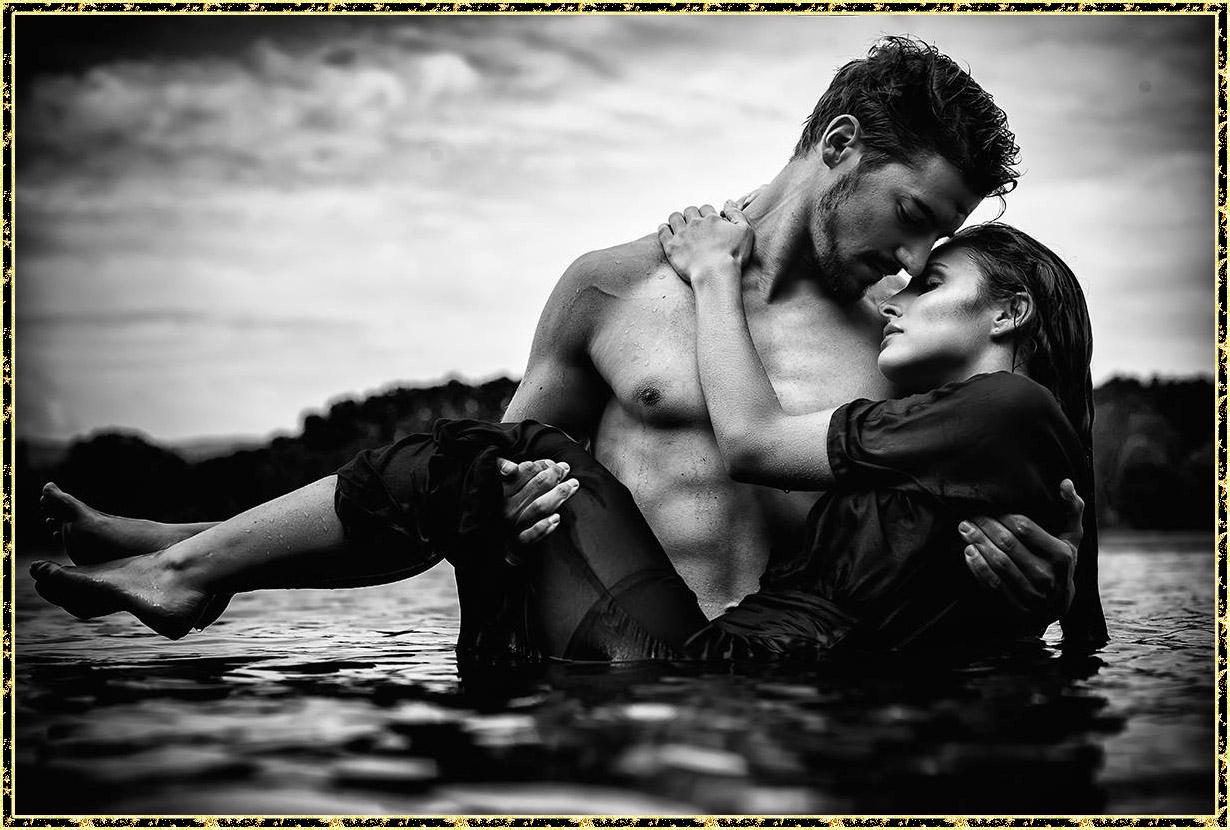 черно-белое фото любовь