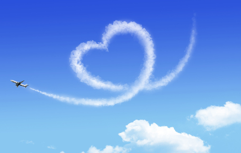 <b>Сердечки</b> в небе