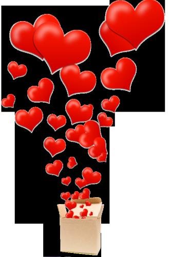 Сделать подарочную коробку в виде сердца