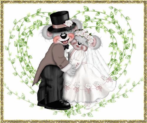 Мишки Тедди жених и невеста
