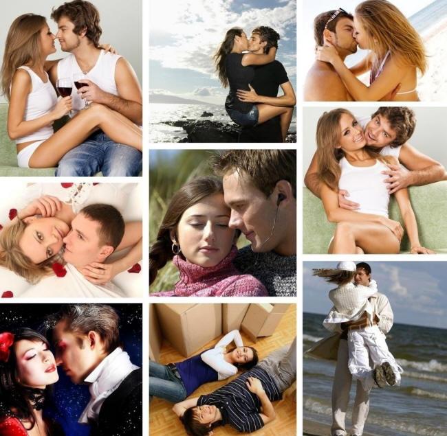 фотографии обнимающихся и целующихся людей