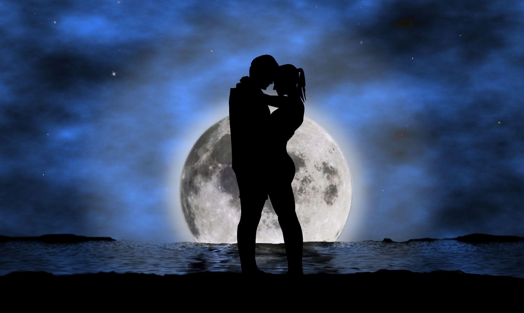 Луна ночь девушка
