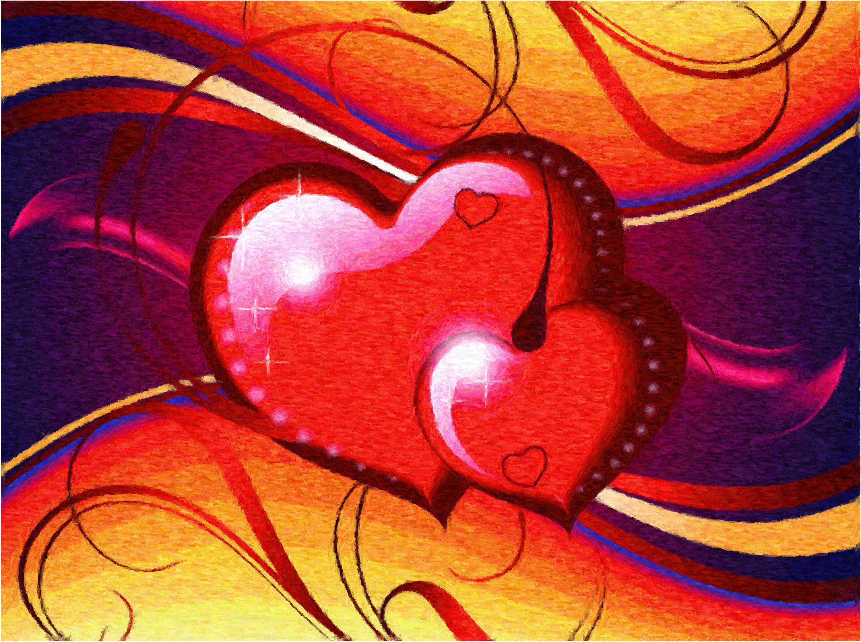 картинки два сердца красивые