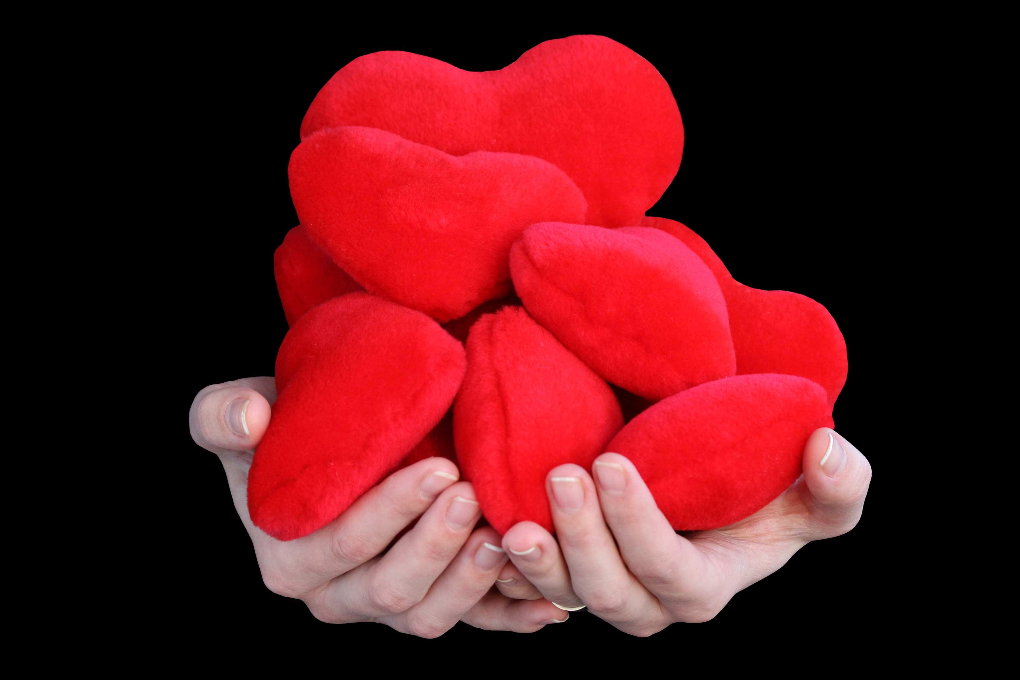 картинка с сердечками черно-белые
