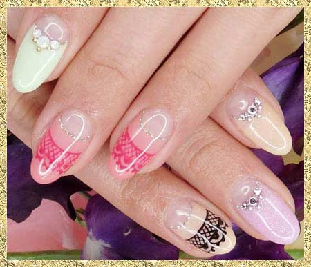 Летний дизайны нарощенных ногтей