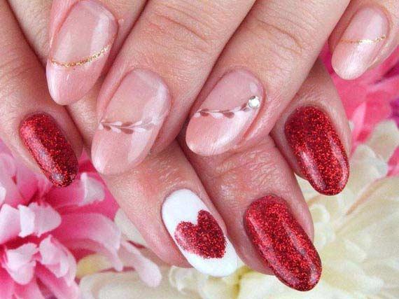 Дизайн на нарощенных ногтях форма миндаль
