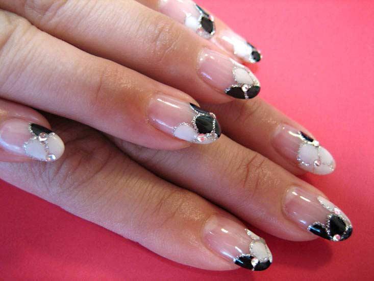 Ногти черный френч красивые