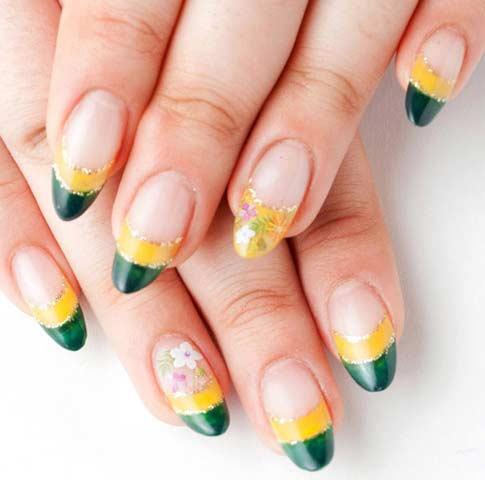 Рисунок ногтей желто-зеленый