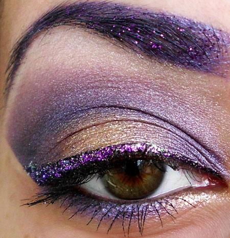 Фото макияжа фиолетового цвета