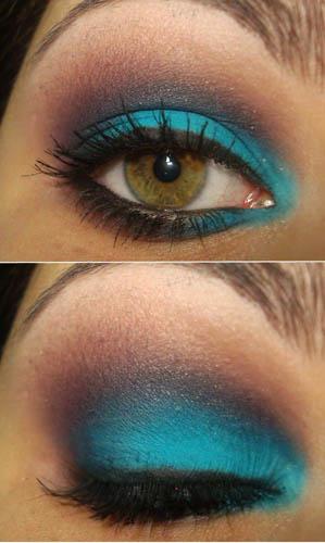 Двухцветный макияж для глаз