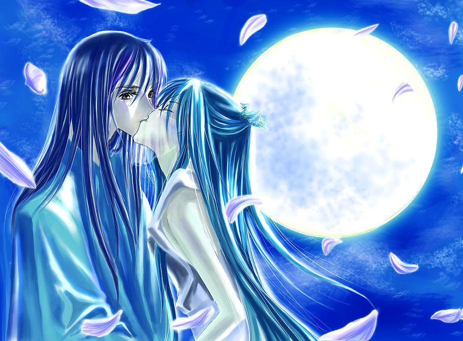 Рисунок парень и девушка целуются  Картина осень для