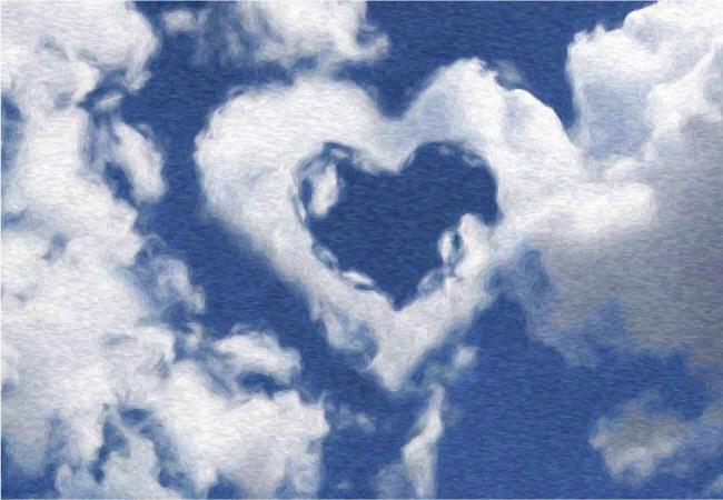 сердце из облаков