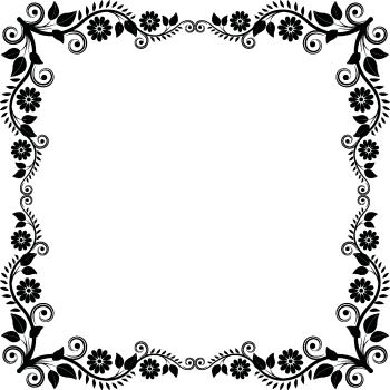 Квадратная красивая рамка
