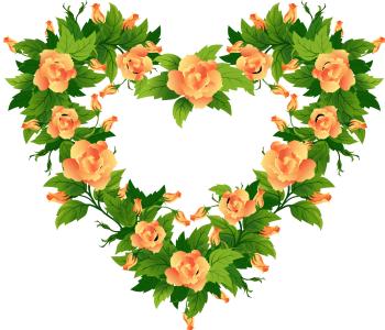 Красивая фоторамка сердце
