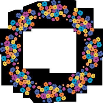 круглая цветочная рамка