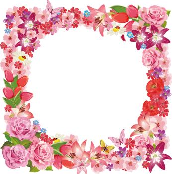 фоторамка из цветов