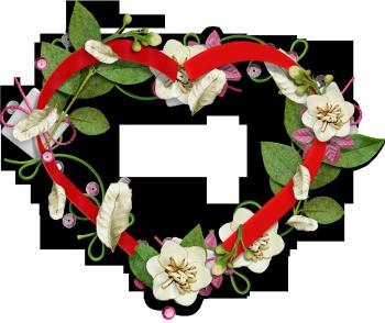 рамка цветы и ленты